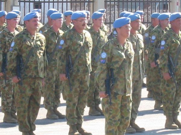 East Timor UN medal Parade