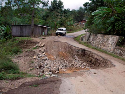 Timor pothole