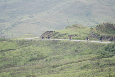 Motorcycles in Timor-mountains
