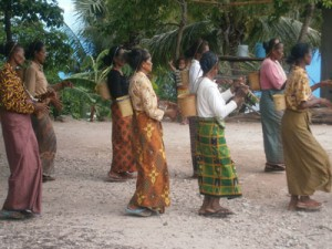 Timorese women traditional dancing